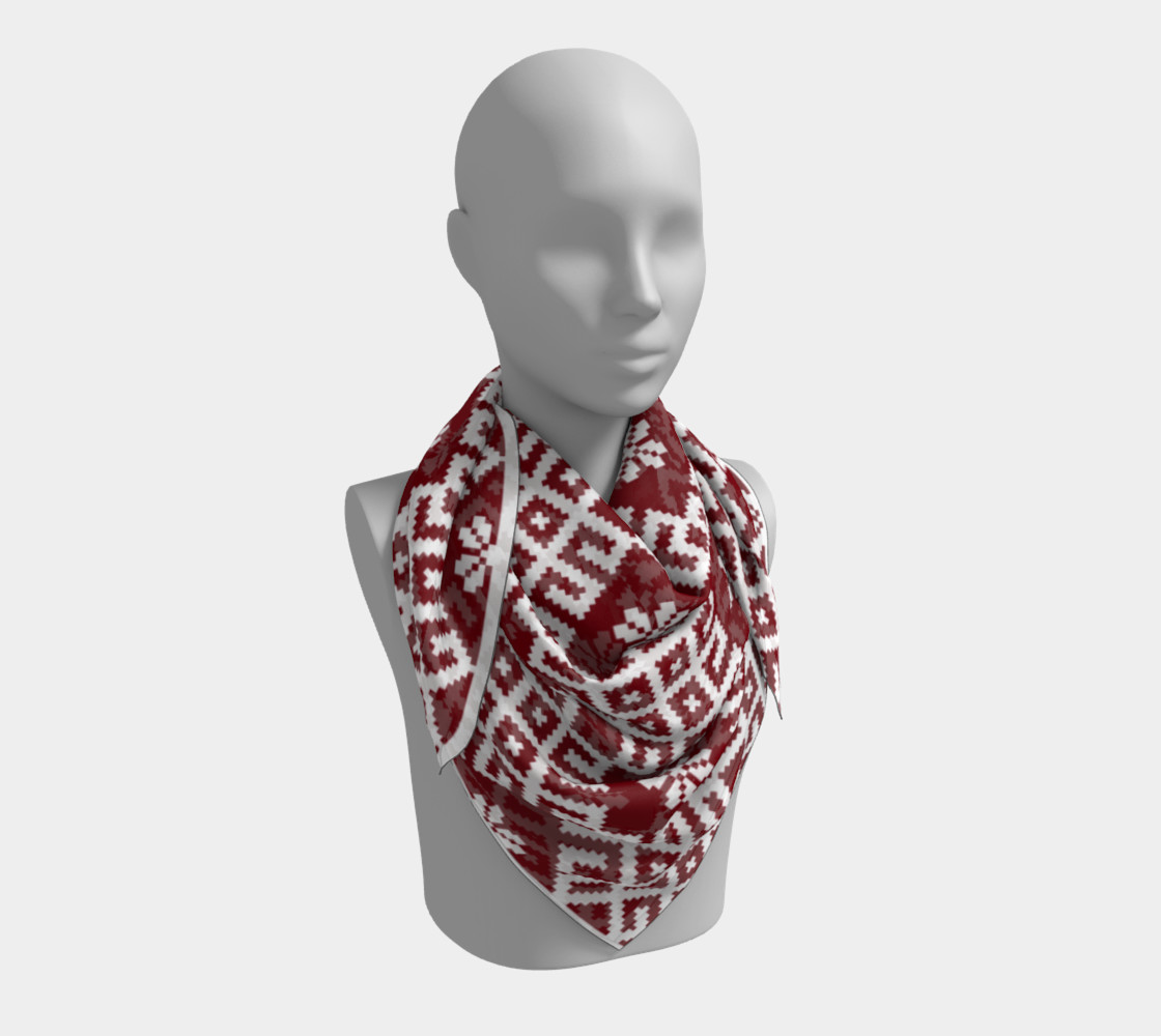 Red and White Nordic Pattern preview #3
