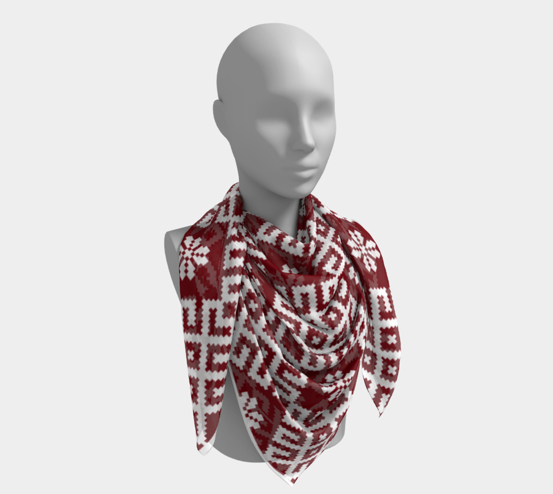 Red and White Nordic Pattern preview #4