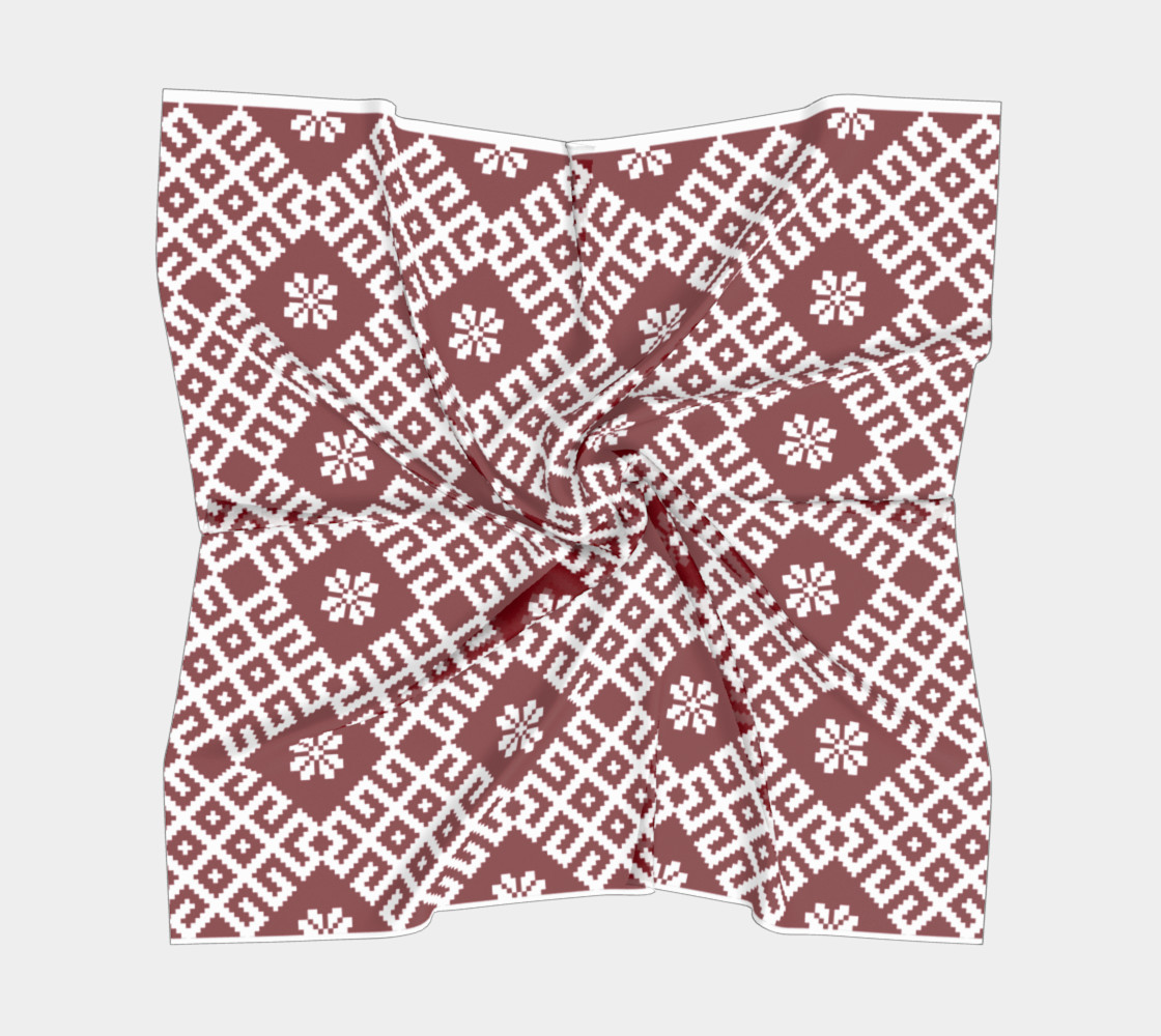 Red and White Nordic Pattern preview #5