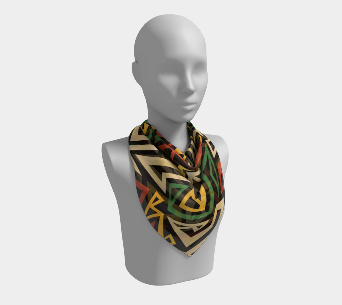 African Geometric Scarf (print by Gudinny) preview #2