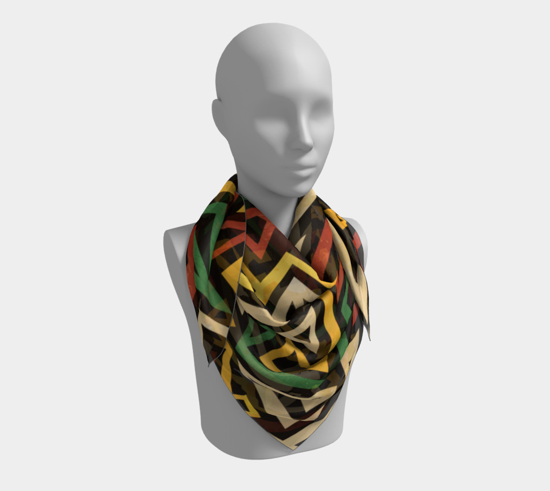 African Geometric Scarf (print by Gudinny) preview #3