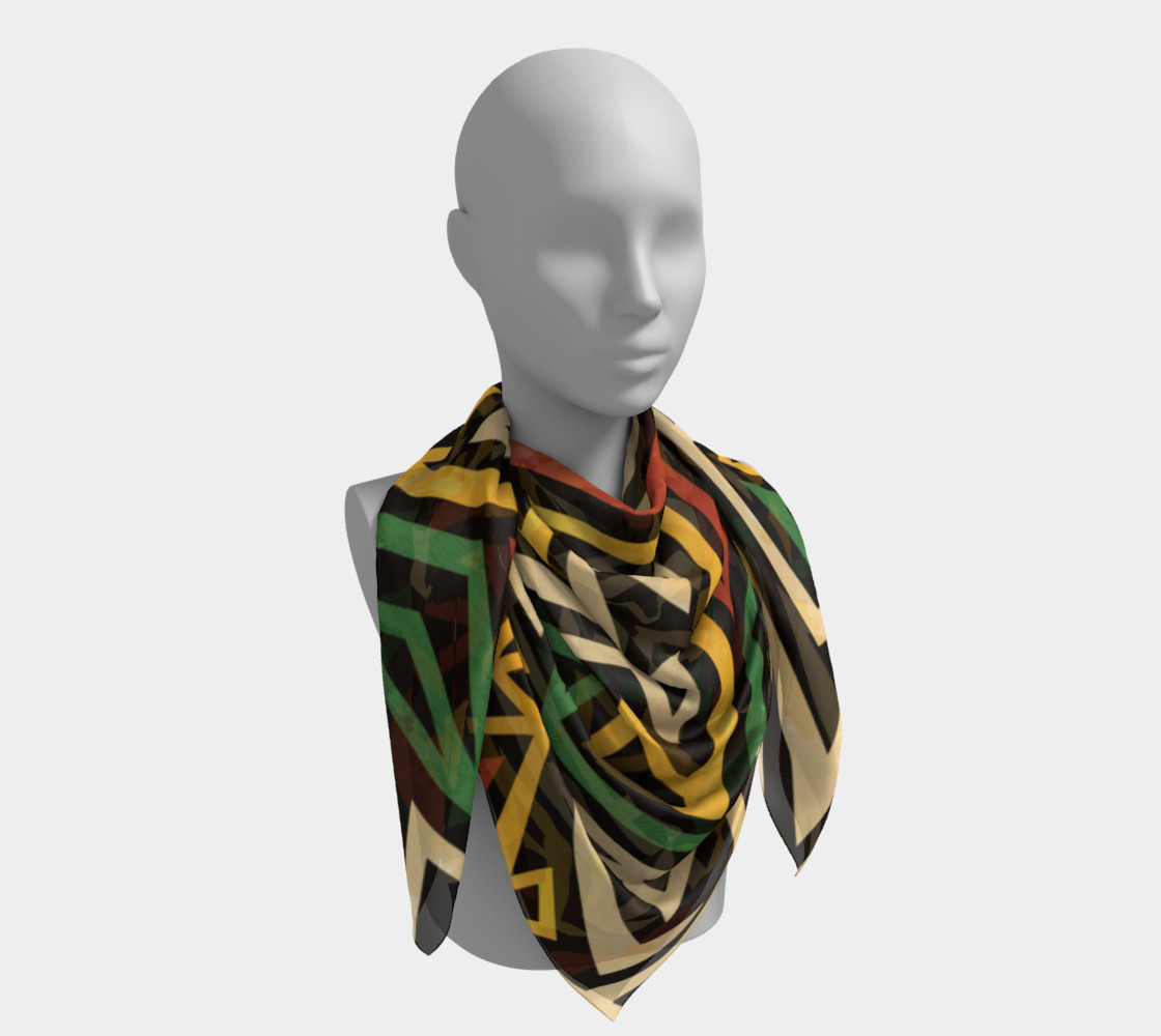 African Geometric Scarf (print by Gudinny) preview #4