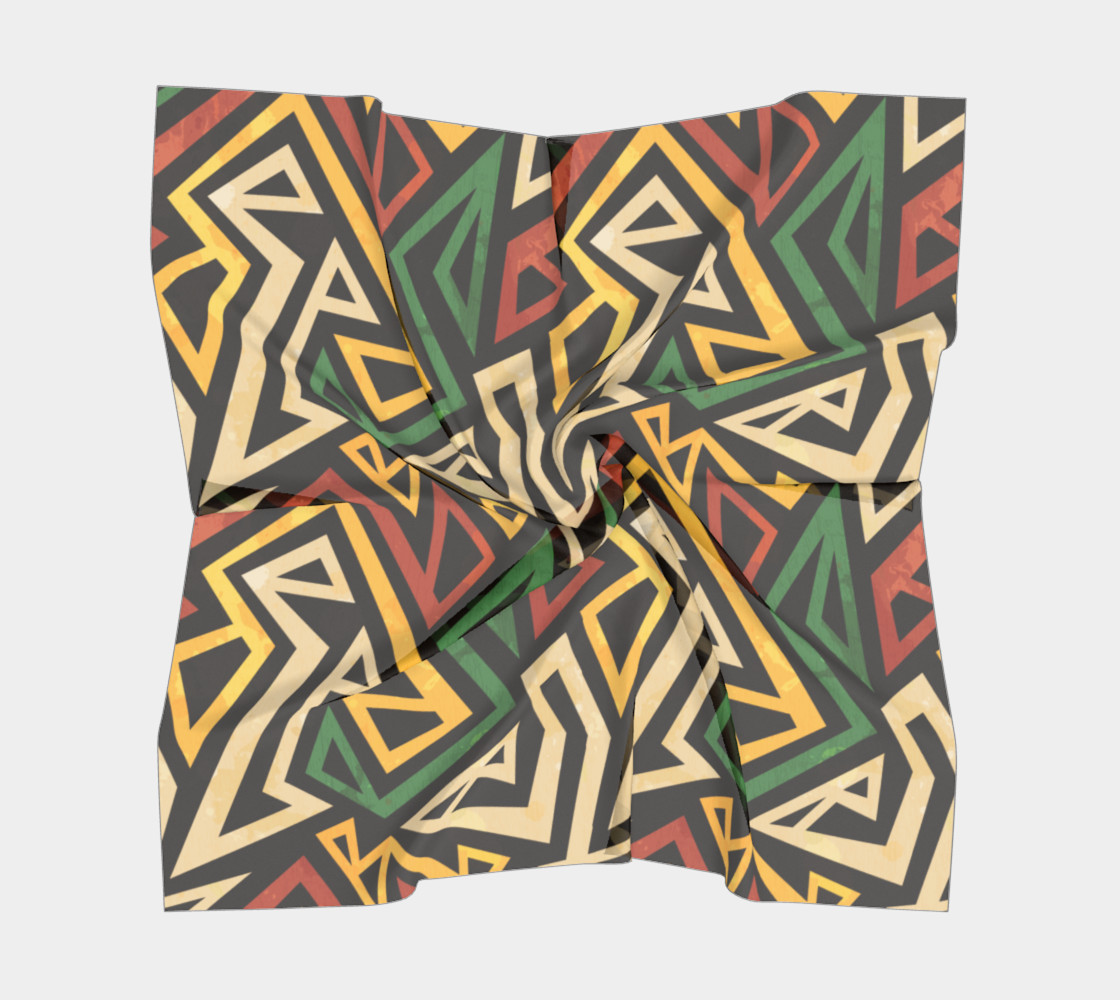 African Geometric Scarf (print by Gudinny) preview #5