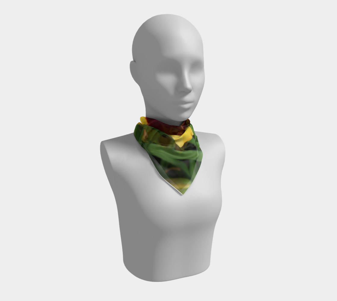 sun panda daylily scarf square preview #1