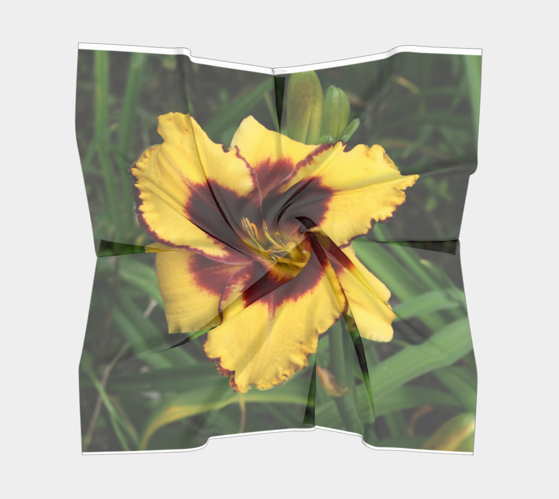 sun panda daylily scarf square preview #5