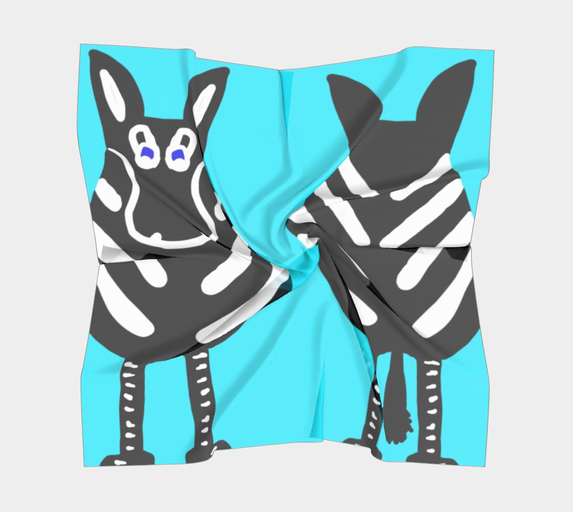 Zebra Both Ends Square Silk Scarf preview #5