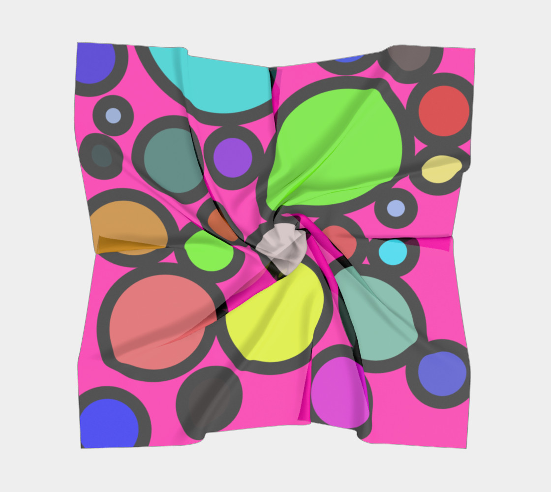 Circles Galore Square Silk Scarf preview #5