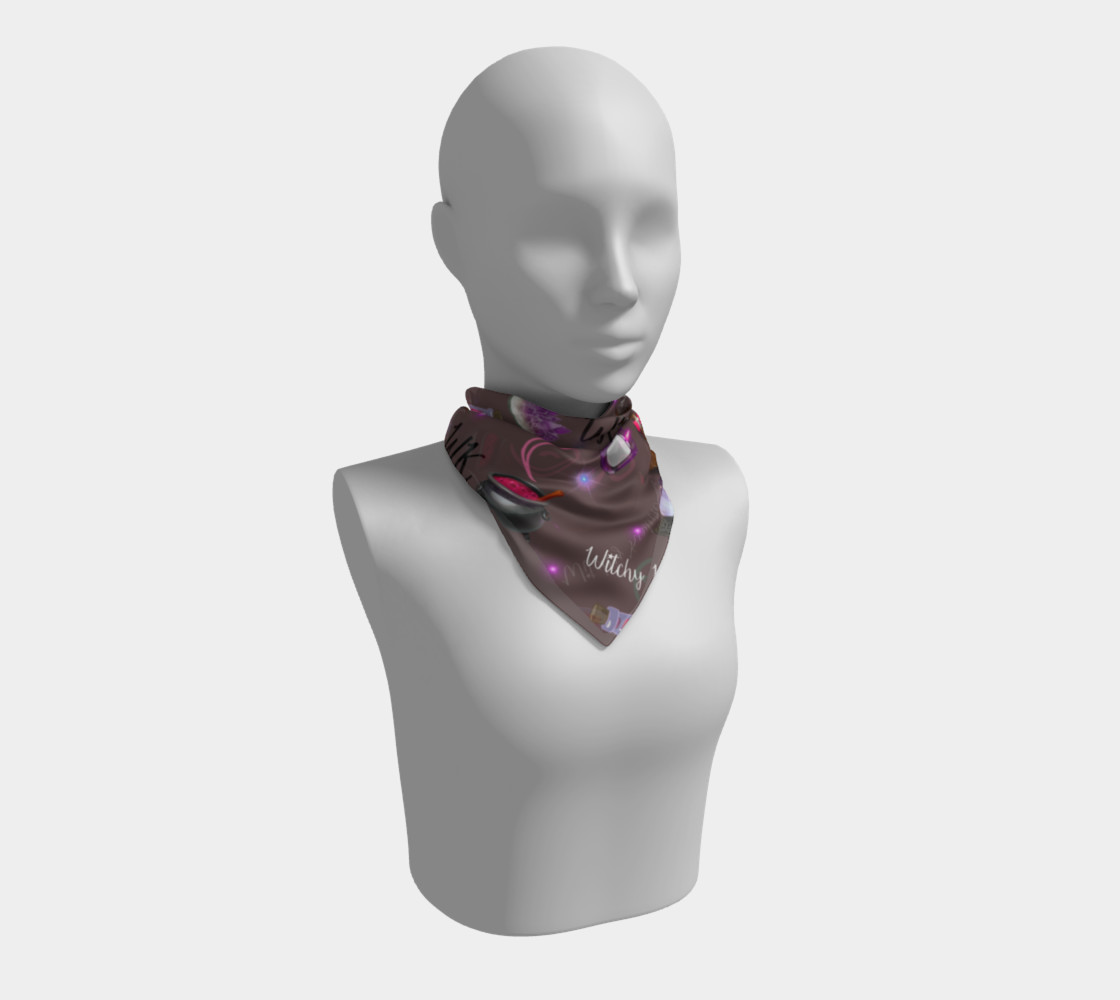 WK #ModernWitchLife Taupe Print Square Scarf preview #1
