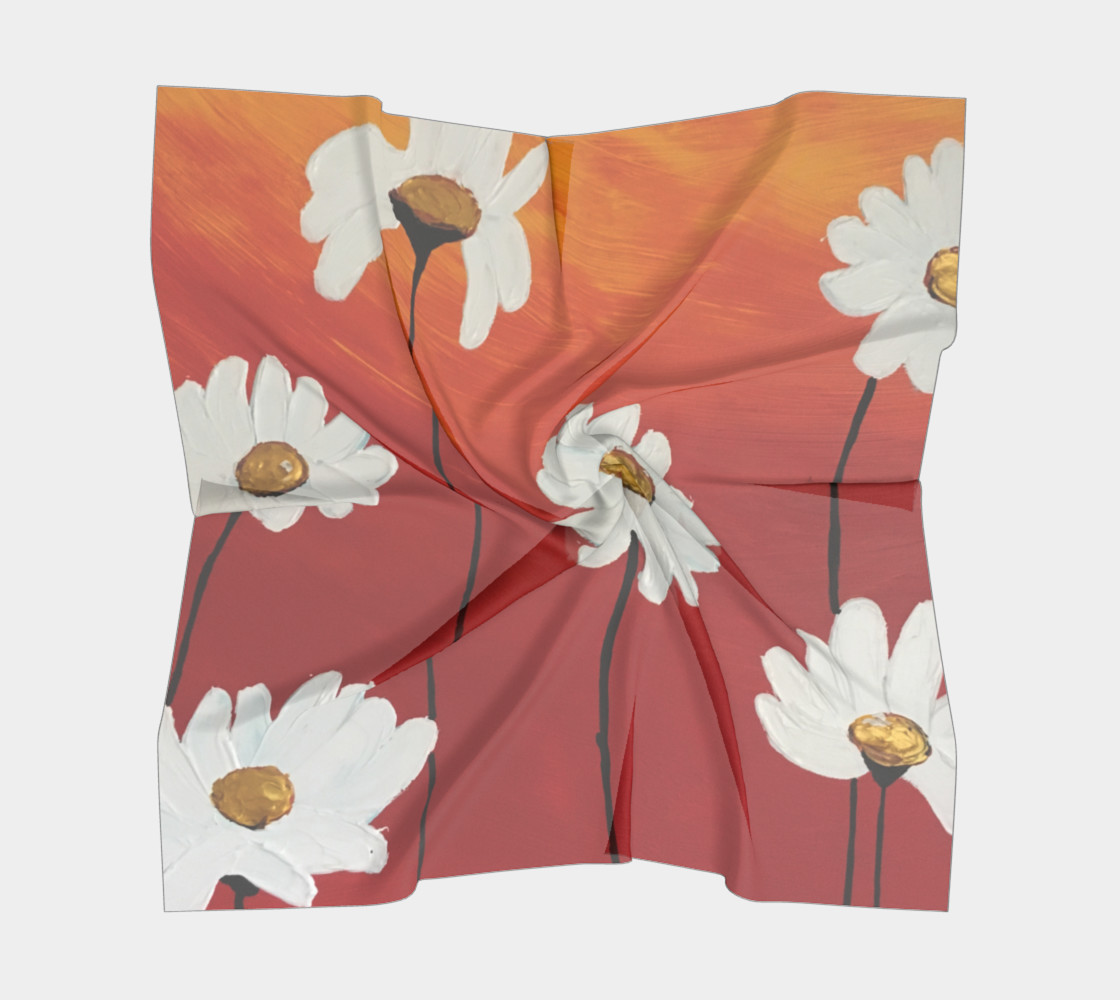 Daisy Sunset Square Scarf preview #5