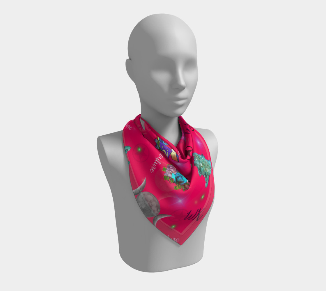 WK #ModernWitchLife Pink Print Square Scarf preview #2