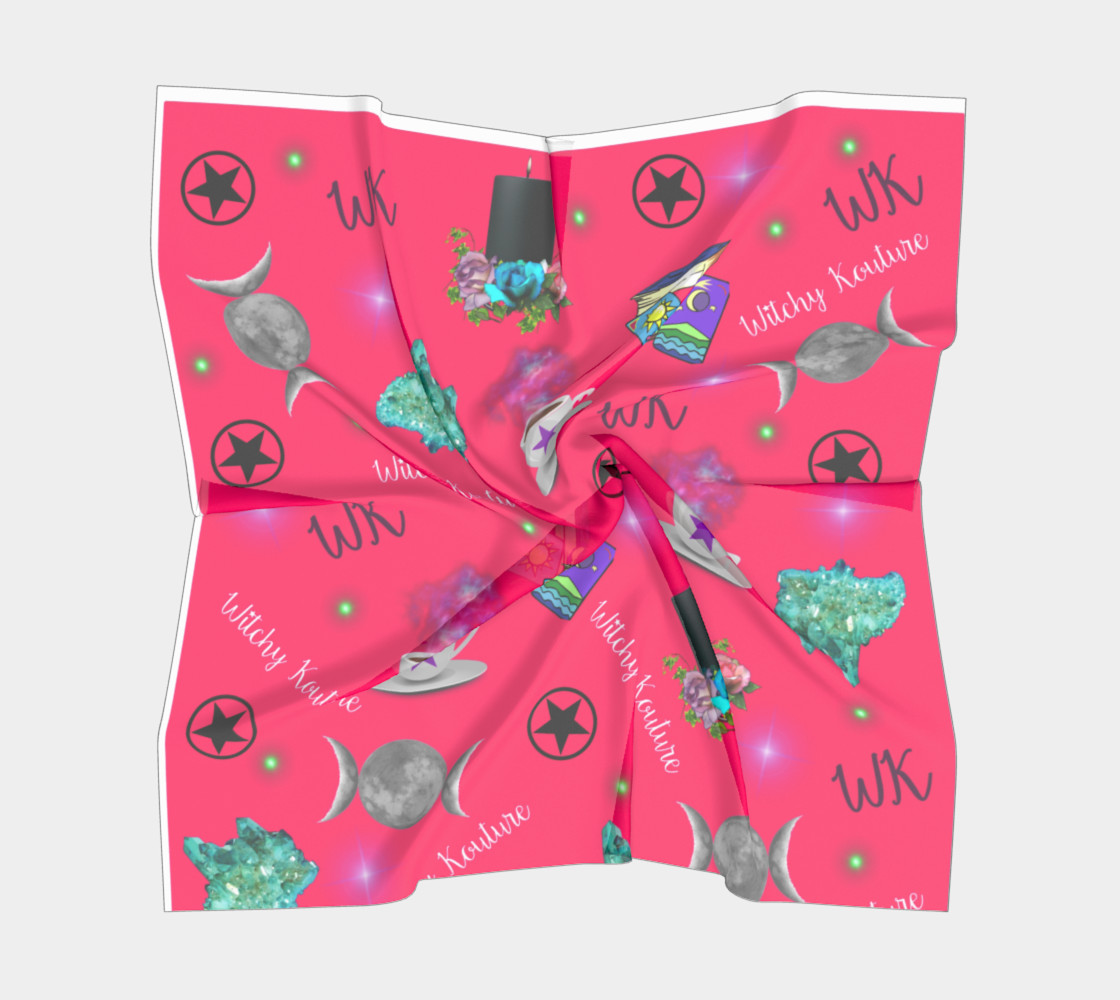 WK #ModernWitchLife Pink Print Square Scarf preview #5