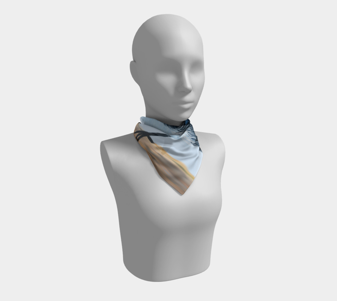 Blue Wren Big Square Silk Scarf preview #1