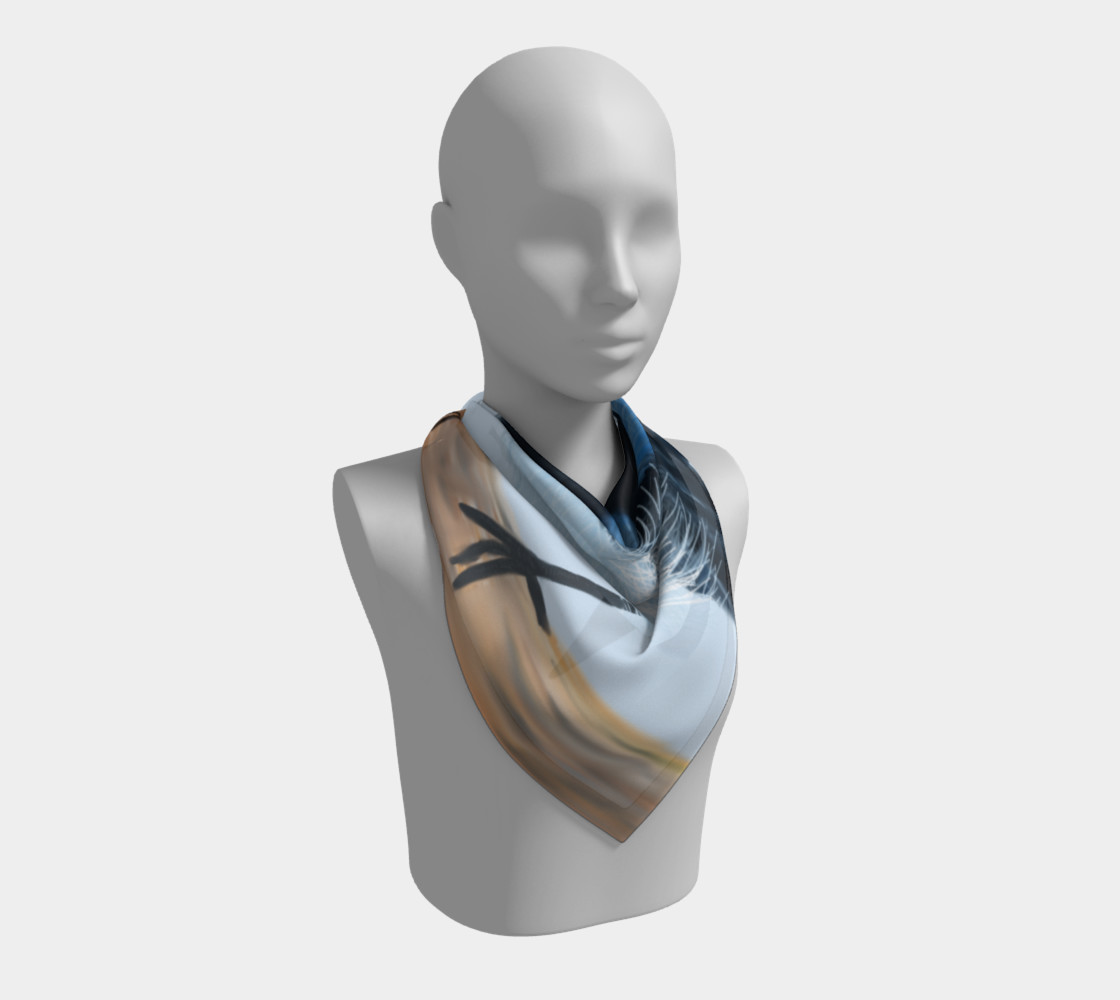 Blue Wren Big Square Silk Scarf preview #2