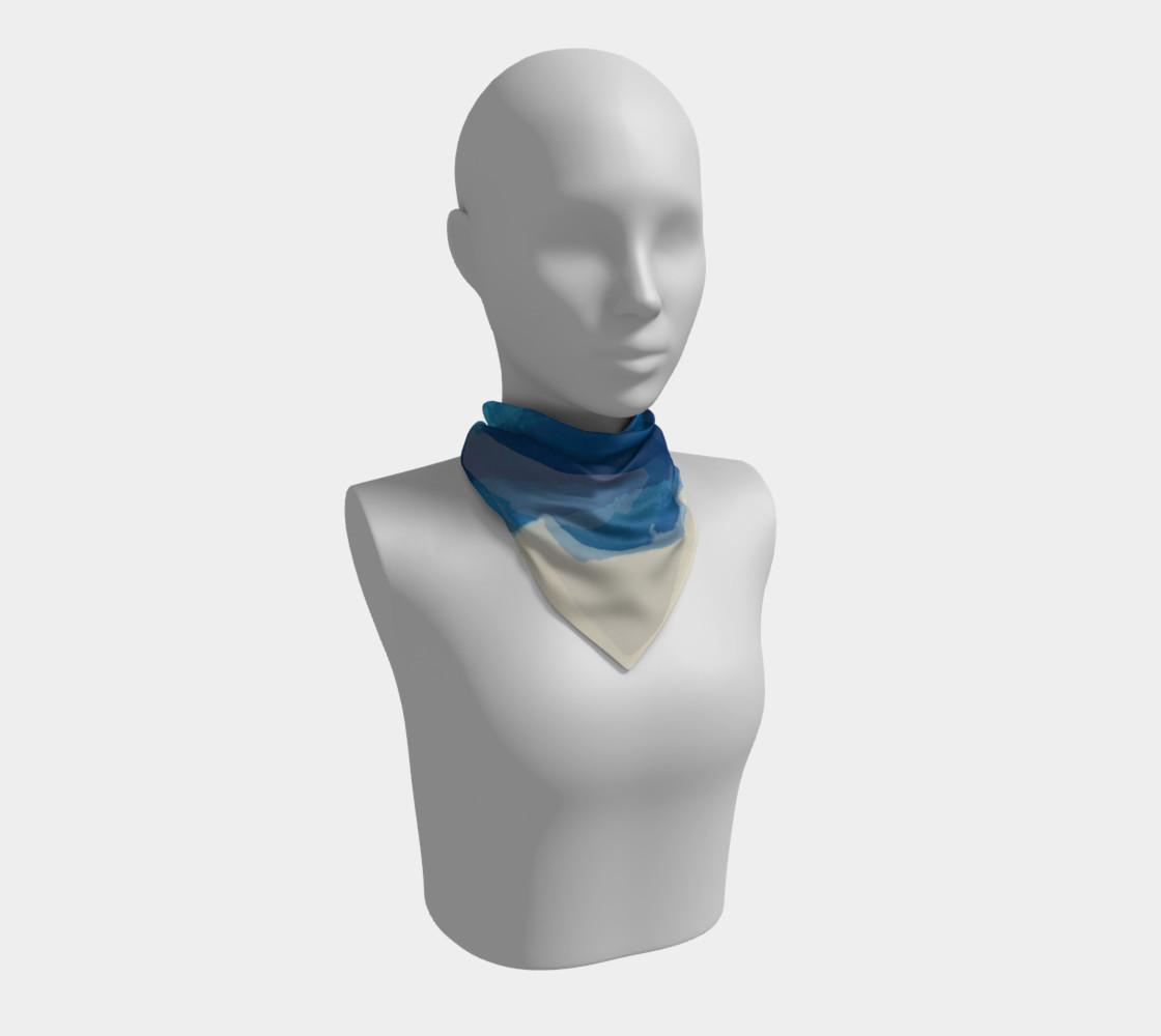 Breathe Into Blue Scarf Square preview #1