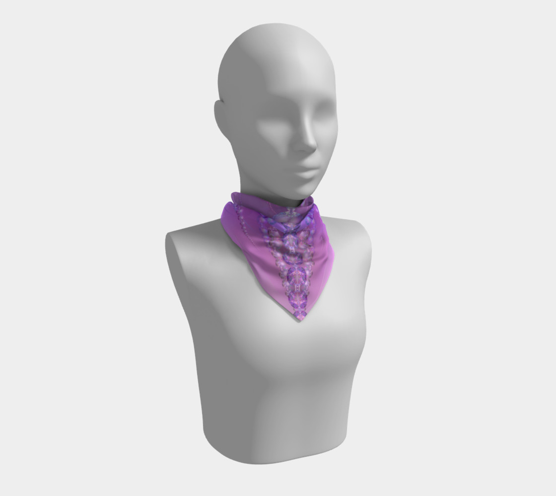 Beautiful Purple and Pink Bubble Fractal 36 Inch Scarf preview #1