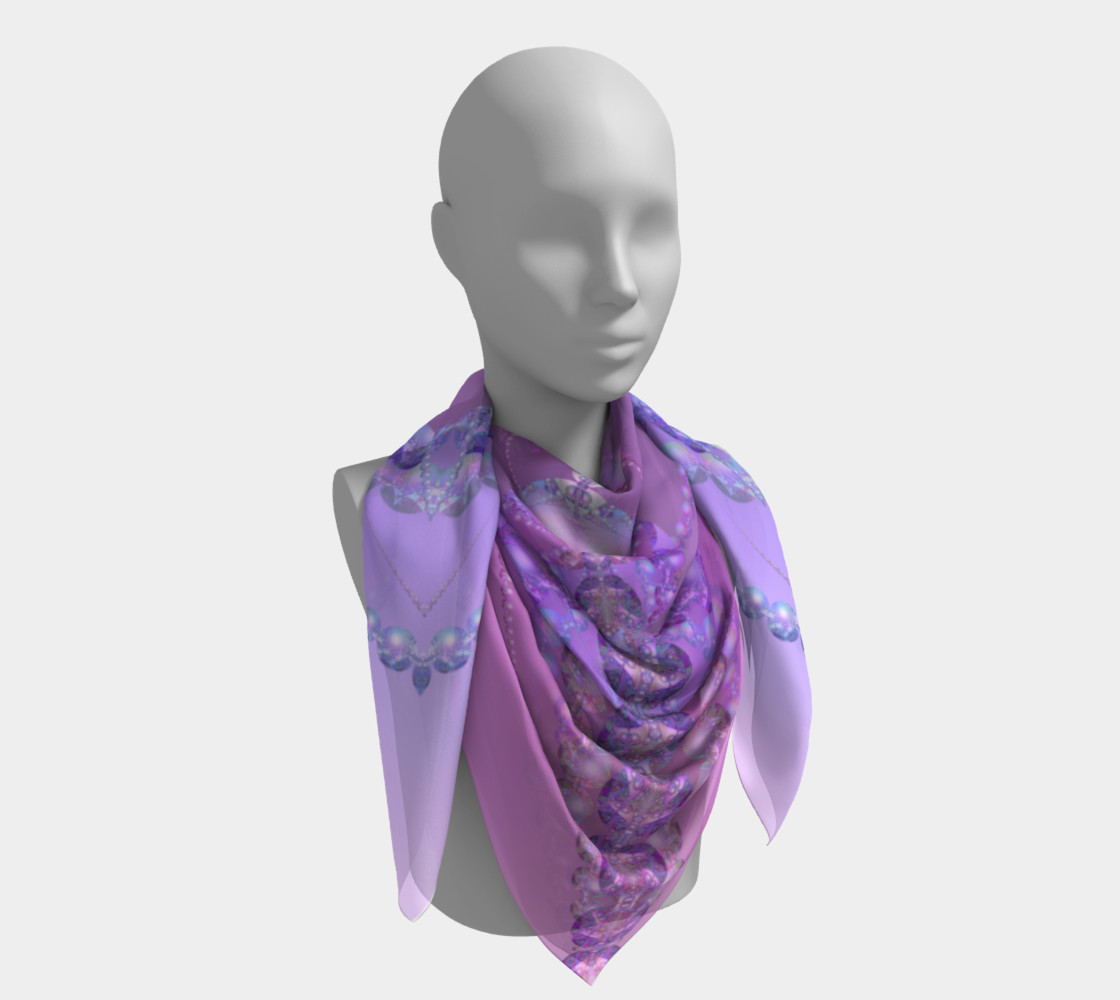 Beautiful Purple and Pink Bubble Fractal 36 Inch Scarf preview #4