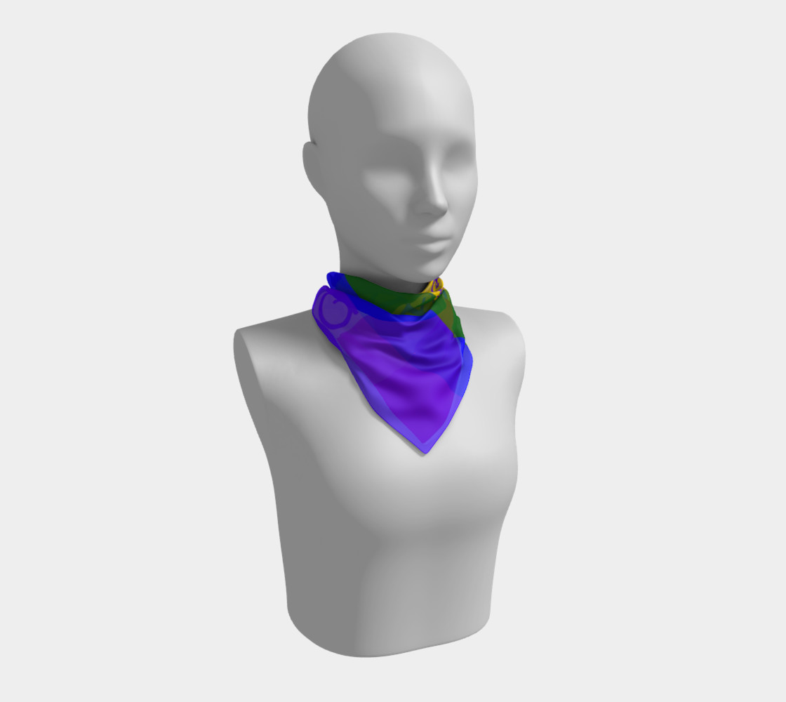 Gay Pride Love Silk Square Scarf  preview #1