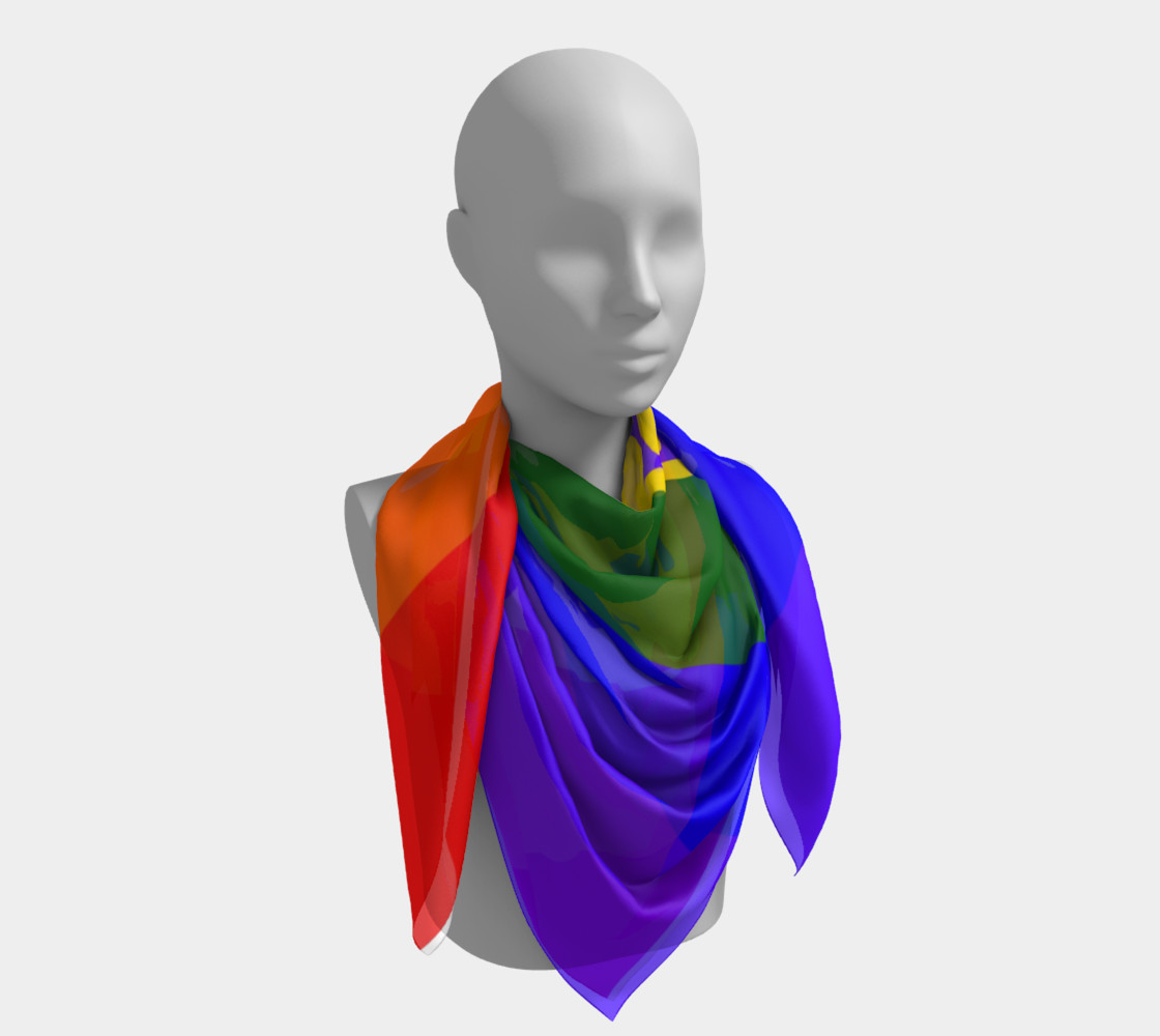 Gay Pride Love Silk Square Scarf  preview #4