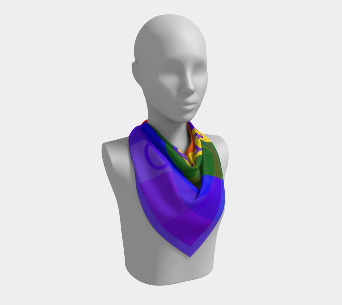 Gay Pride Love Big Square Silk Scarf preview #2