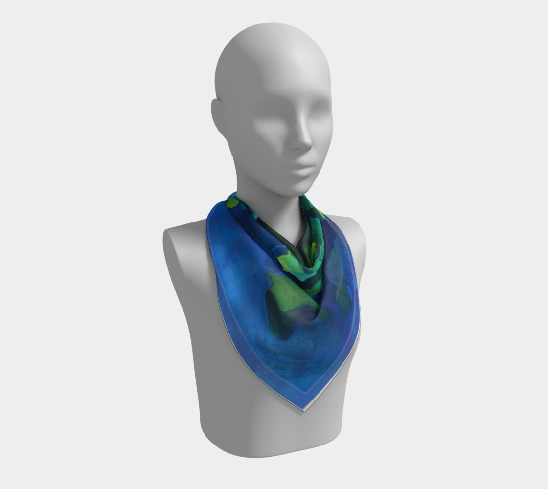 Light Beams Deep In Blue Scarf preview #2