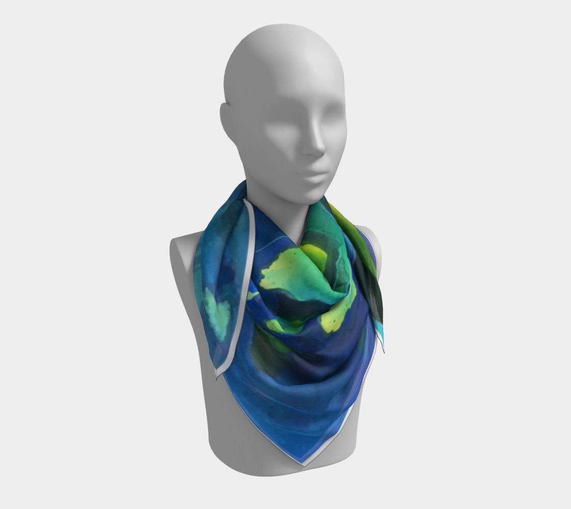 Light Beams Deep In Blue Scarf preview #3