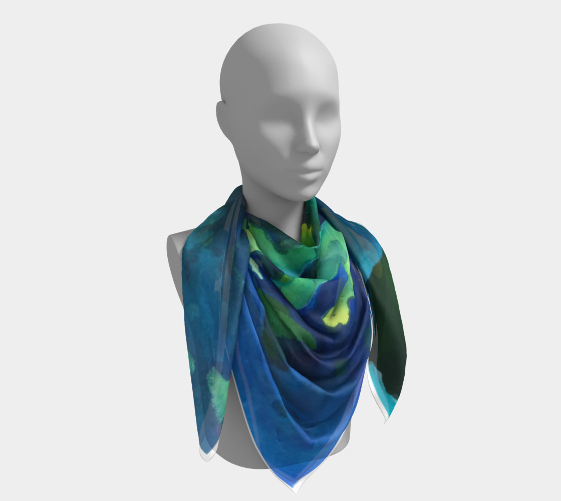 Light Beams Deep In Blue Scarf preview #4