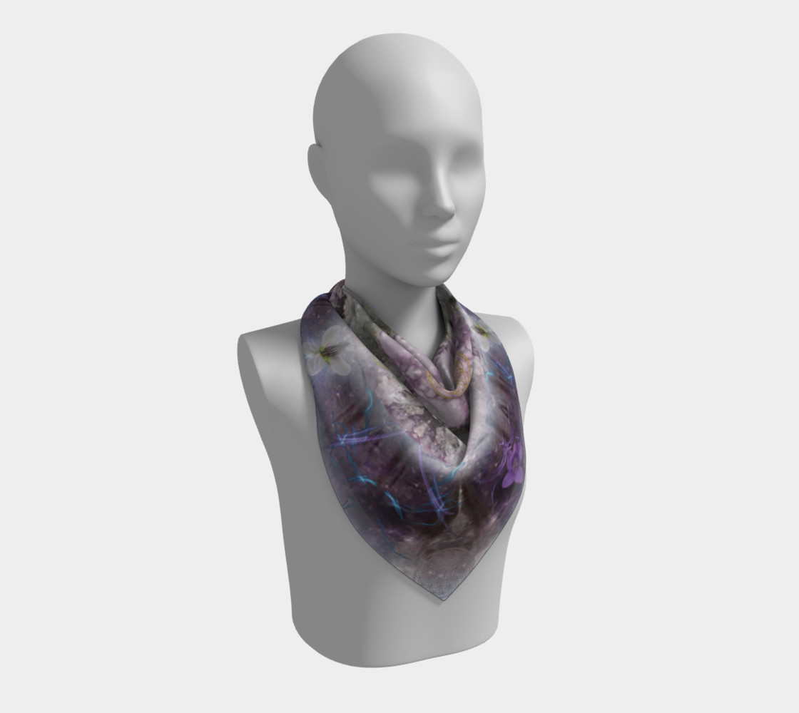 Divine Love Large Silk Scarf preview #2