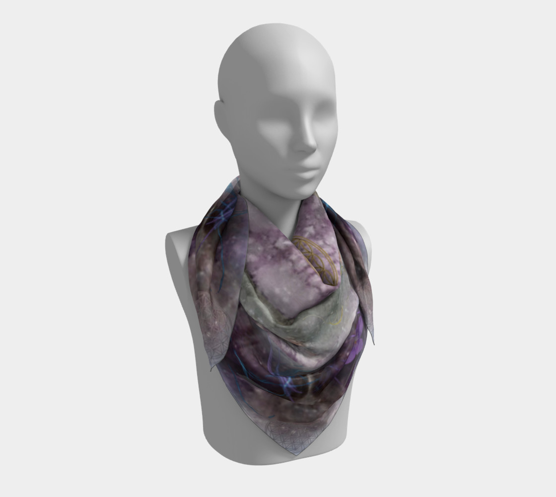 Divine Love Large Silk Scarf preview #3