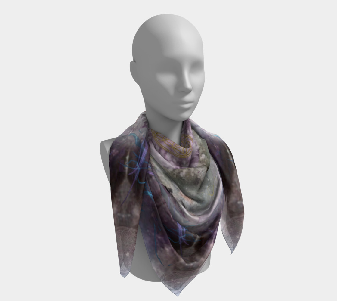 Divine Love Large Silk Scarf preview #4