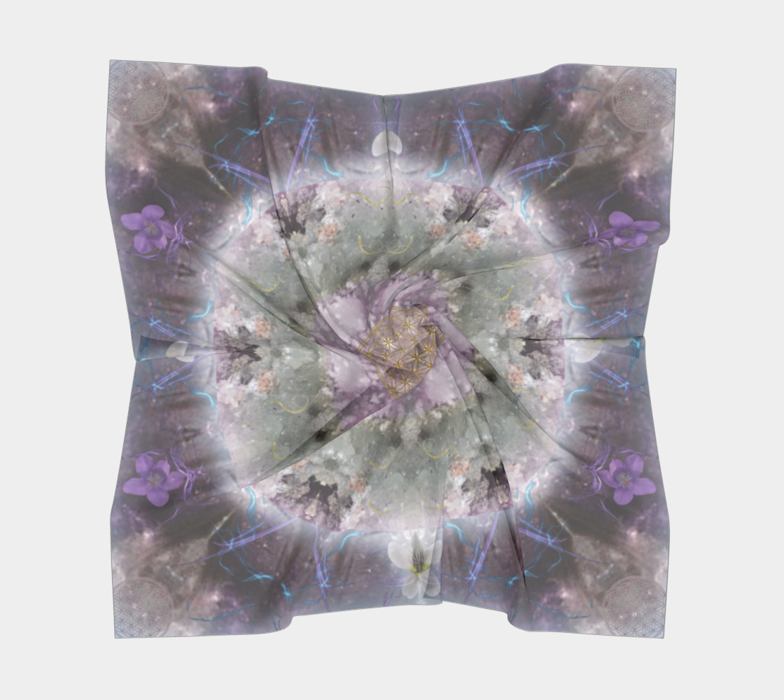 Divine Love Large Silk Scarf preview #5