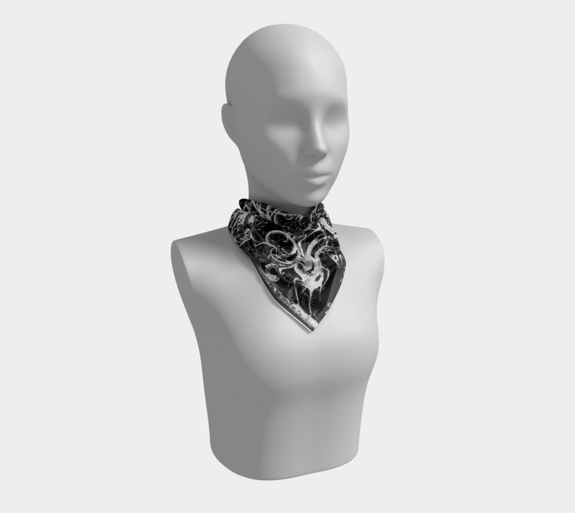 Grotesques B&W - Square Scarf Miniature #2