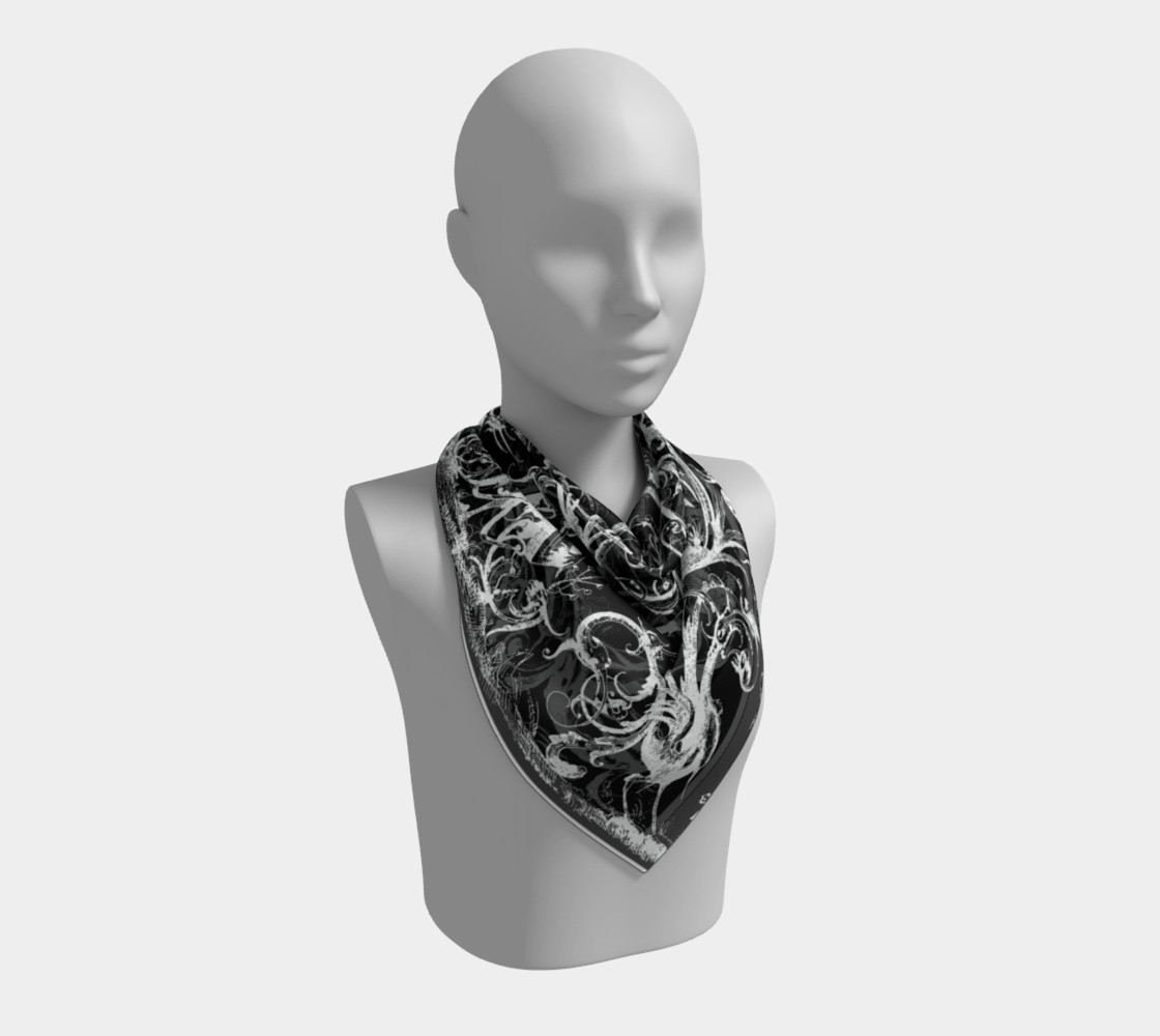 Grotesques B&W - Square Scarf Miniature #3