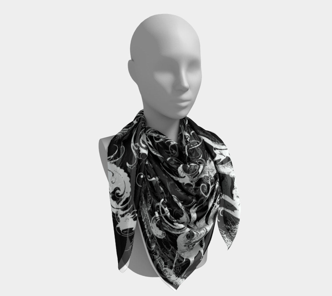 Grotesques B&W - Square Scarf Miniature #5