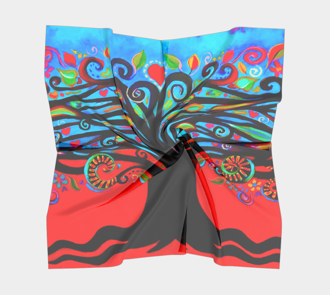 Tree of Life Small Square Scarf preview #5