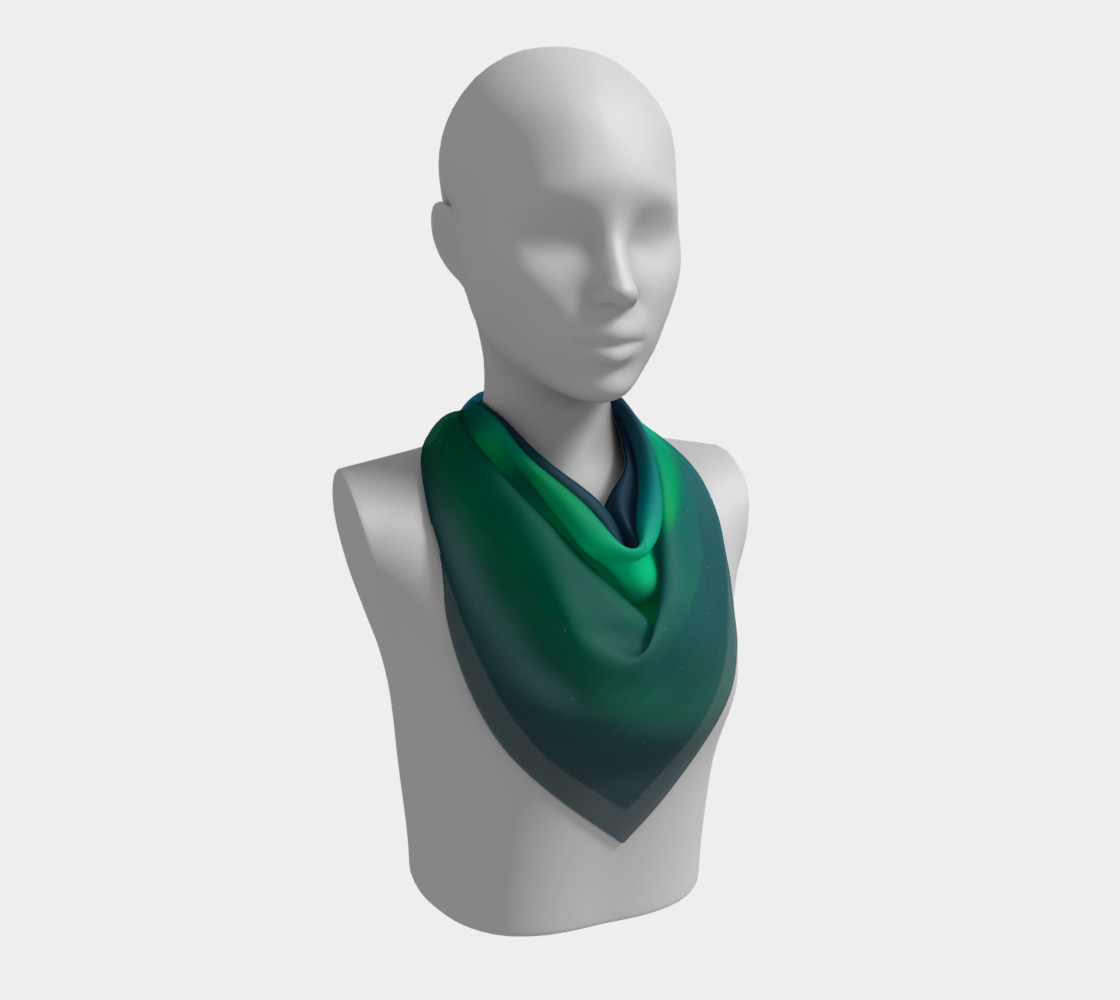 Vivid Northern Lights Small Scarf preview #2