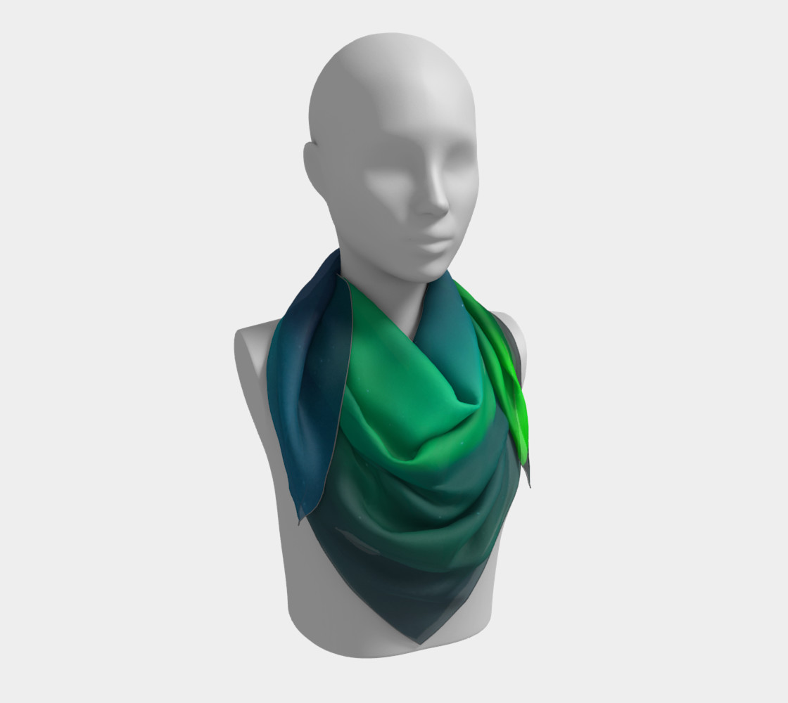 Vivid Northern Lights Small Scarf preview #3