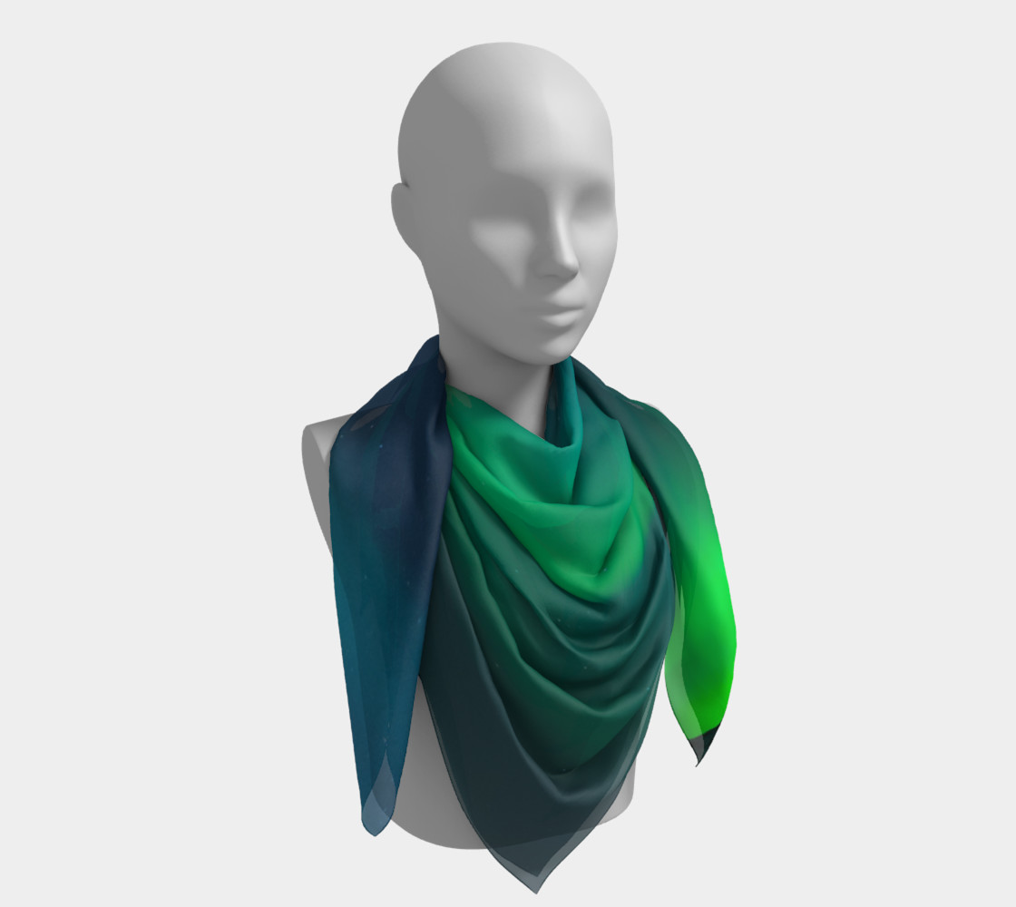 Vivid Northern Lights Small Scarf preview #4