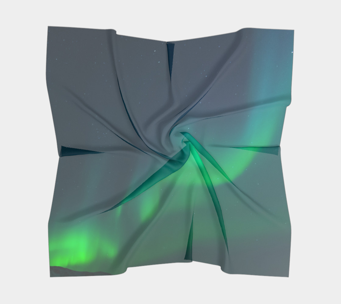 Vivid Northern Lights Small Scarf preview #5