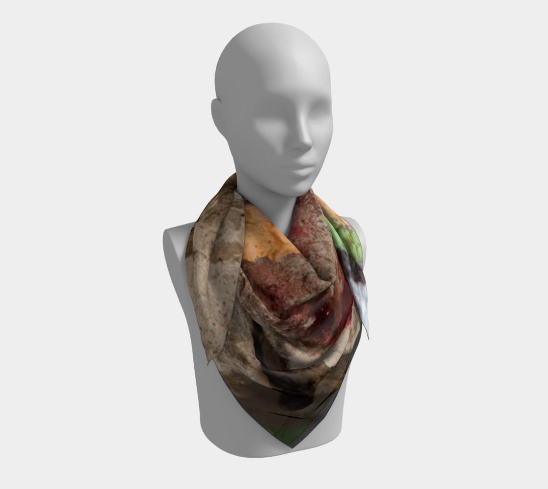 Graffiti square scarf 7 preview #3