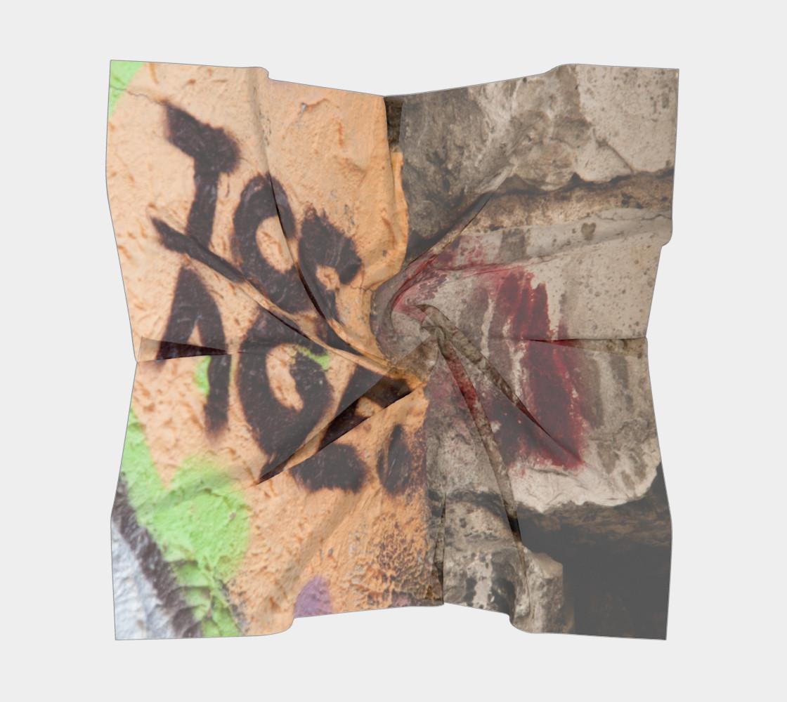 Graffiti square scarf 7 preview #5