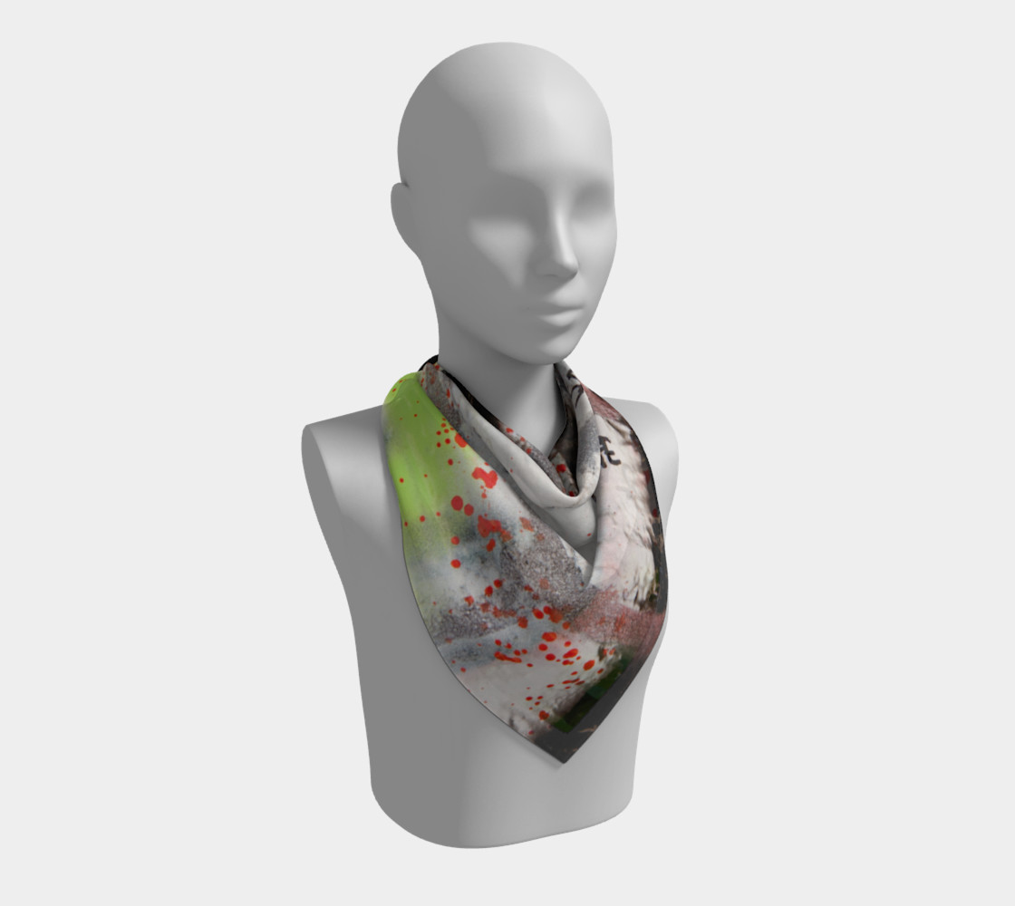 Graffiti Square Scarf 16 Miniature #3
