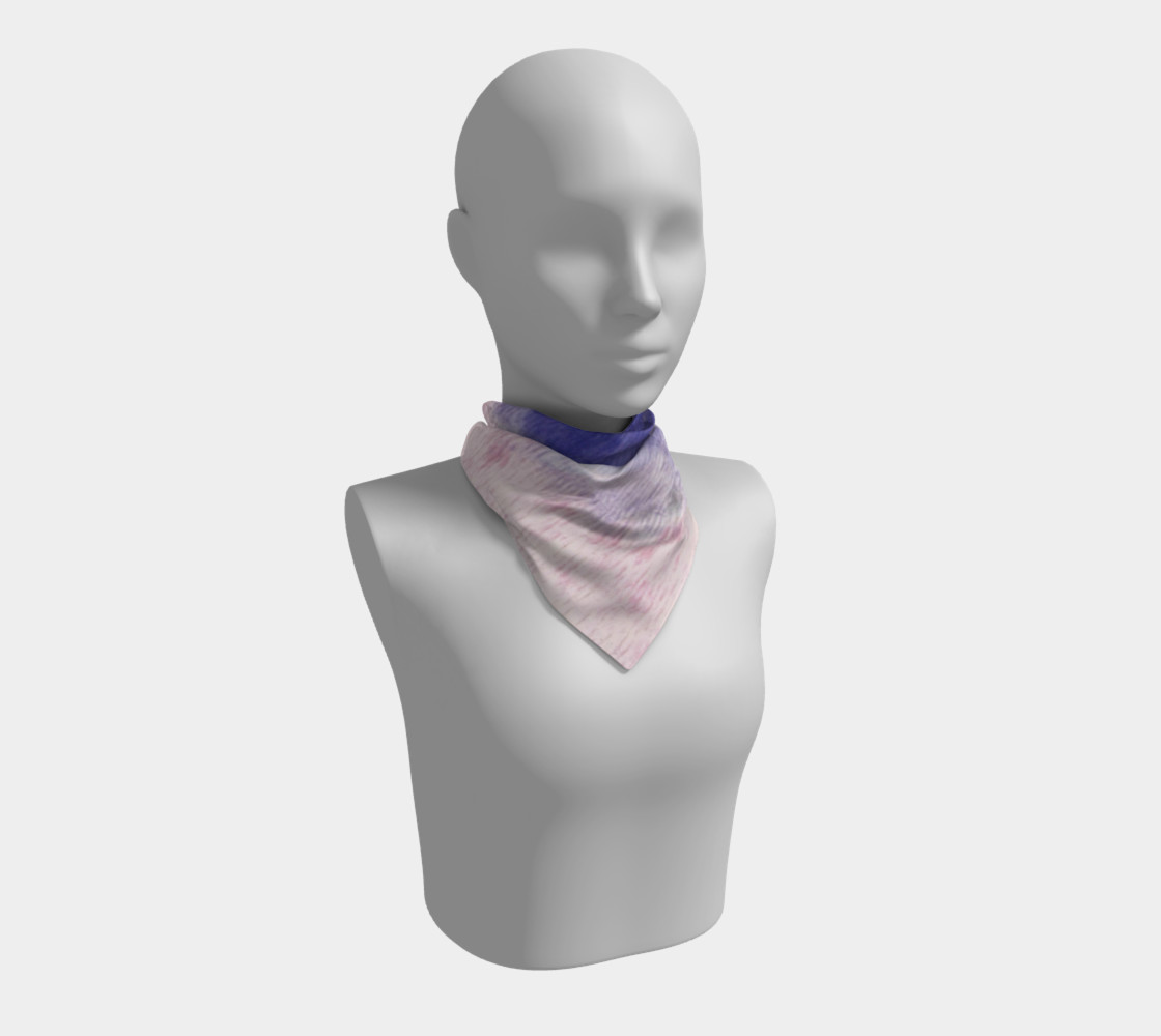 Pastel Floral Dream Square Scarf preview #1
