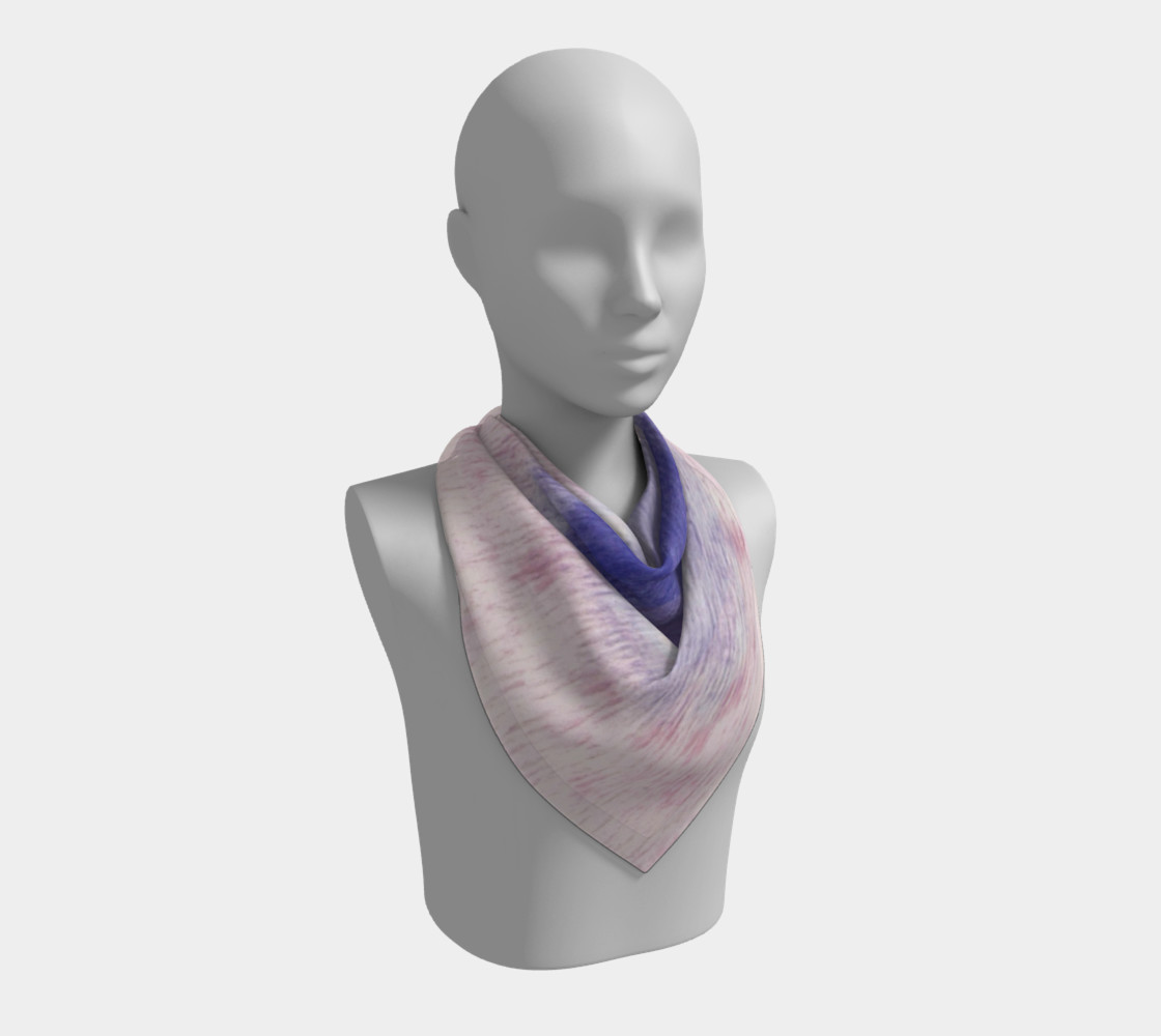 Pastel Floral Dream Square Scarf preview #2