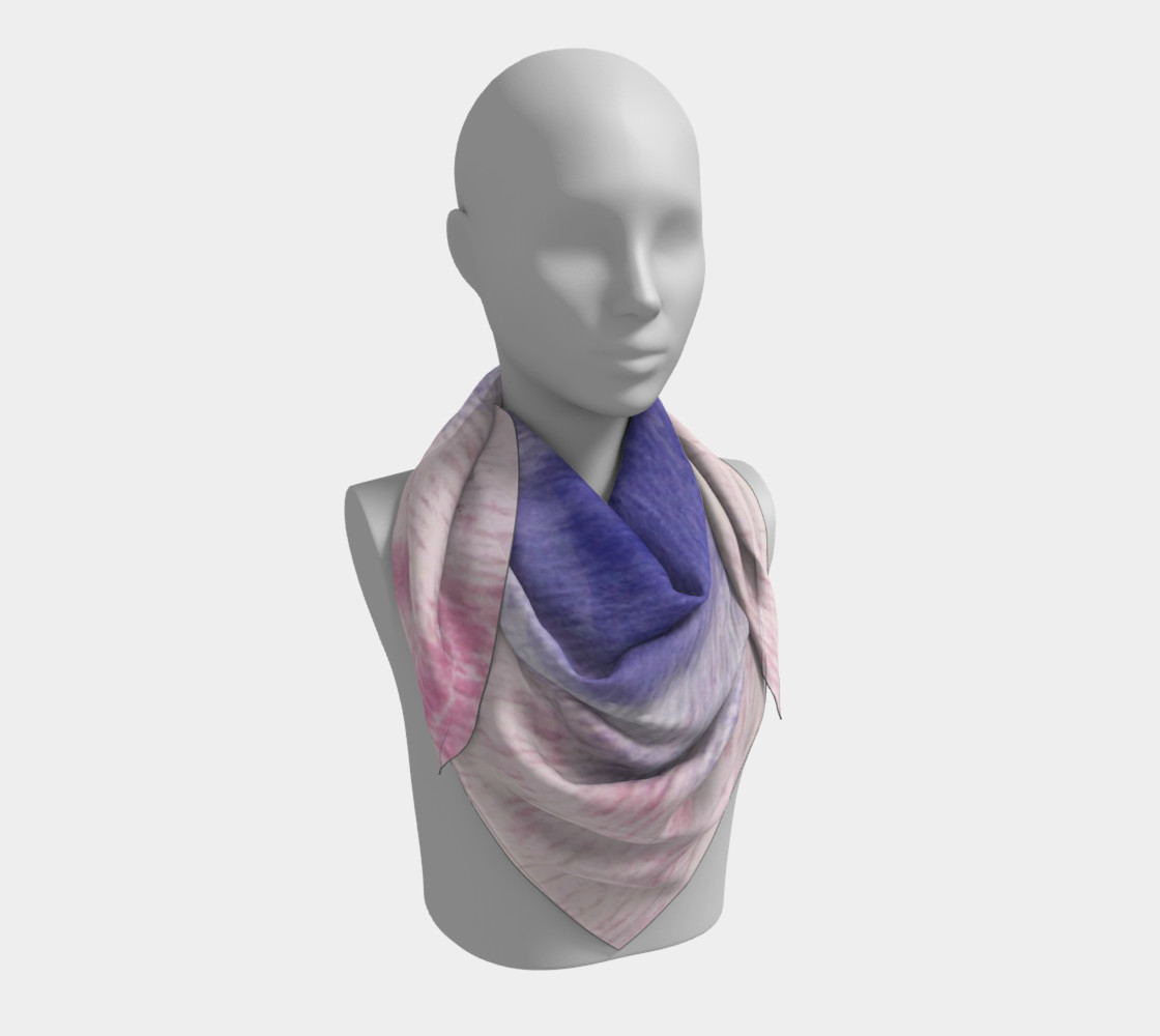 Pastel Floral Dream Square Scarf preview #3