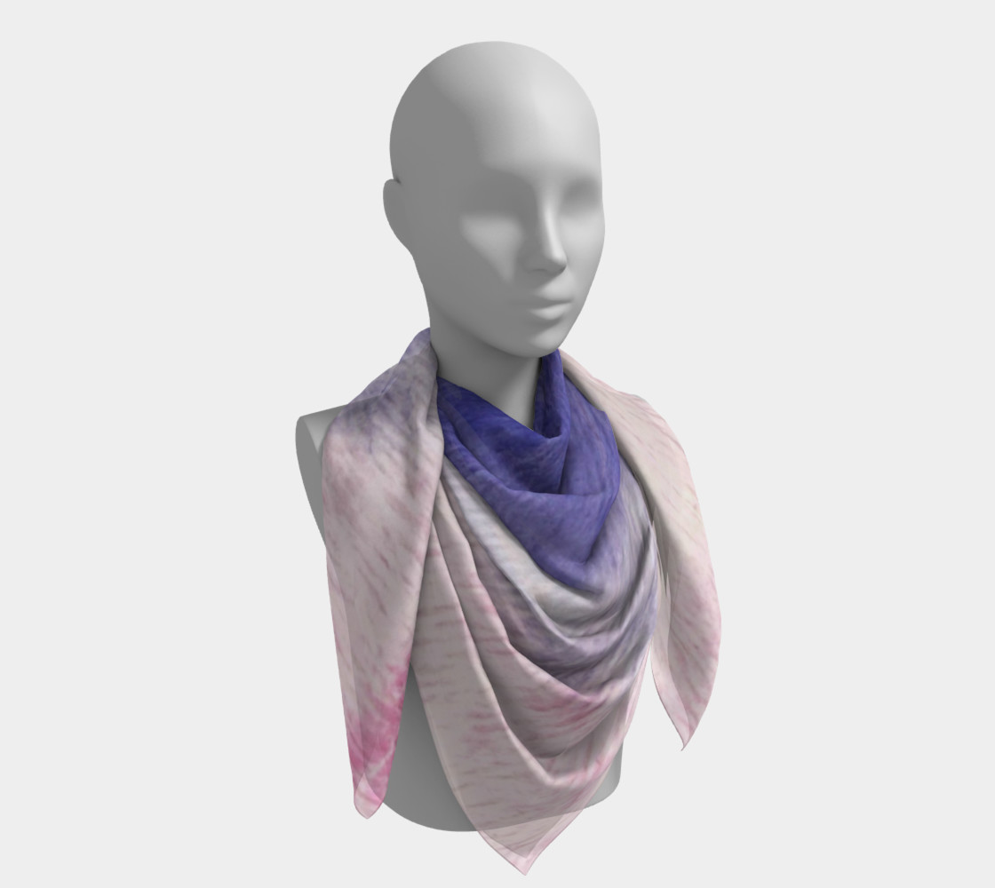 Pastel Floral Dream Square Scarf preview #4