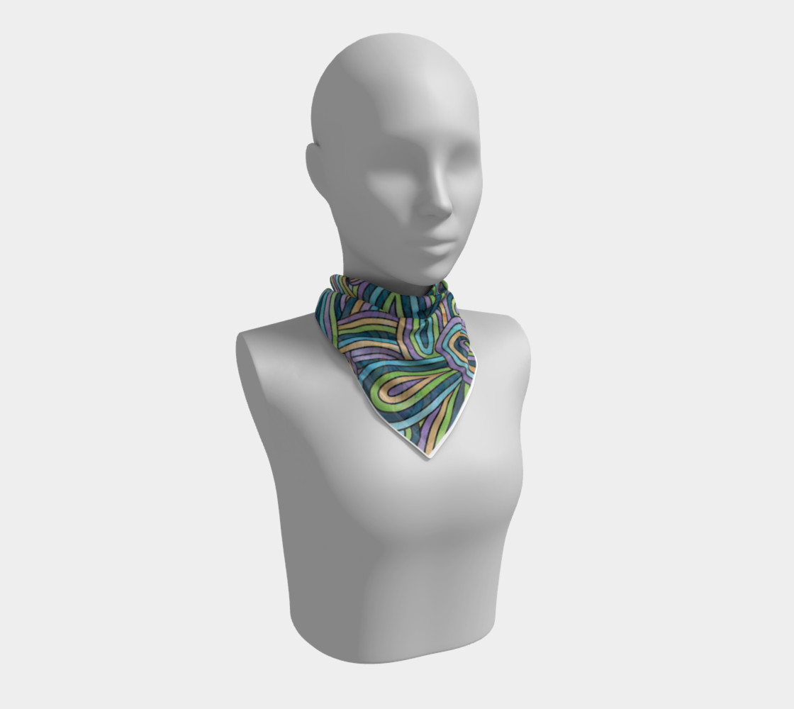 Abstract Swirls Pattern Square Scarf preview #1