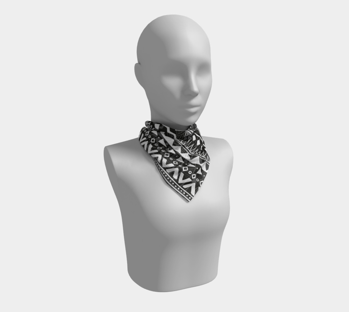 Aztec Print Square Scarf preview #1