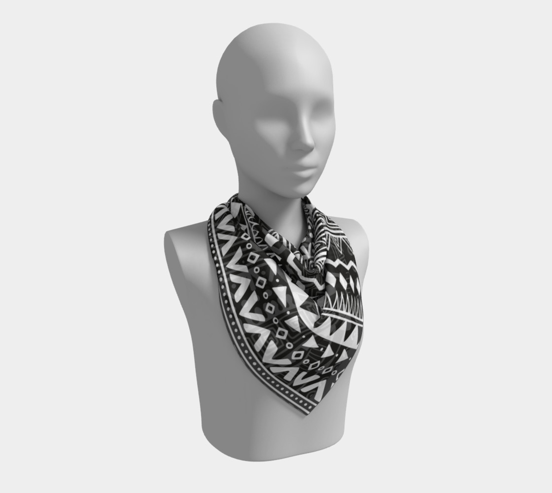 Aztec Print Square Scarf preview #2