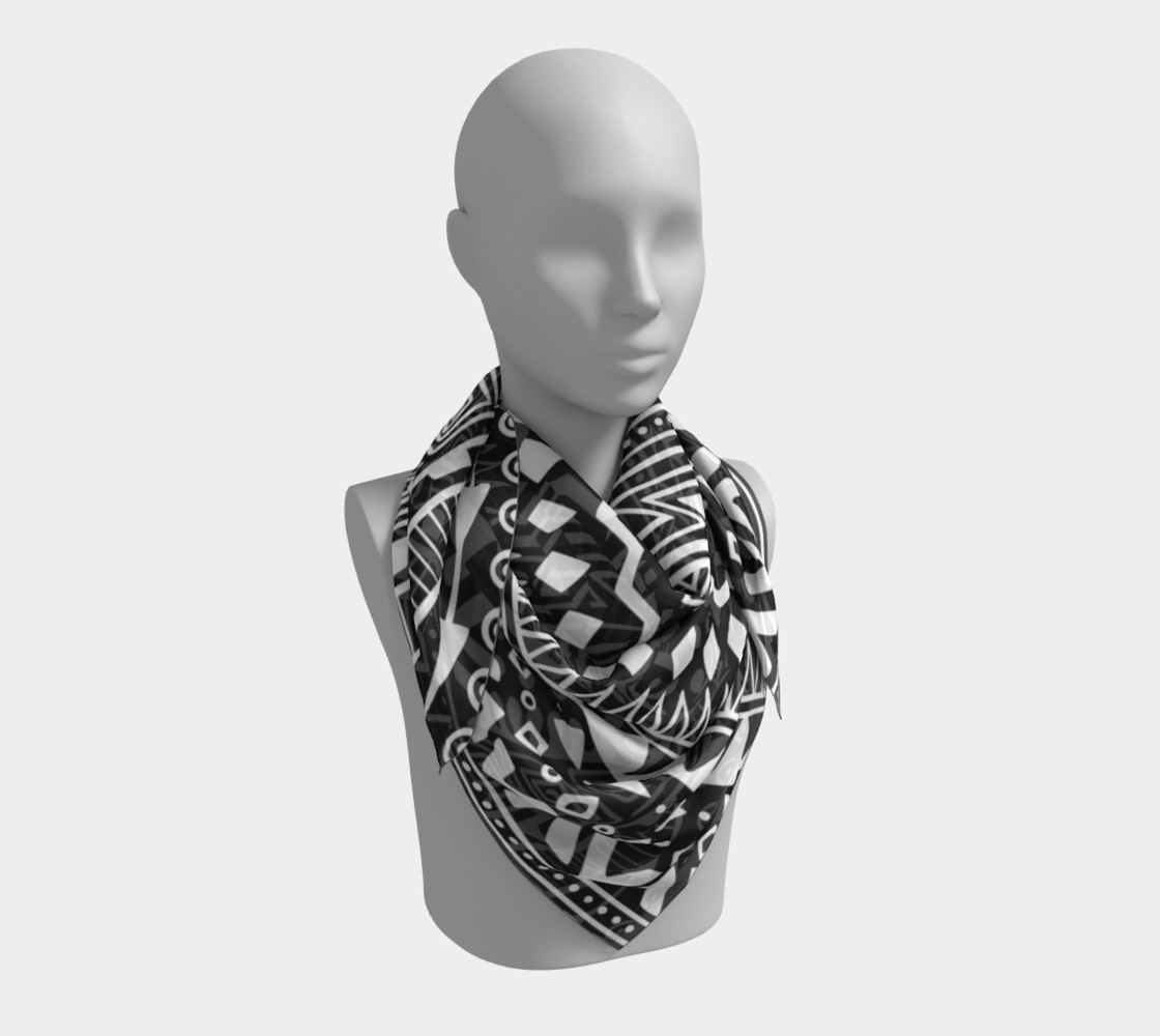 Aztec Print Square Scarf preview #3