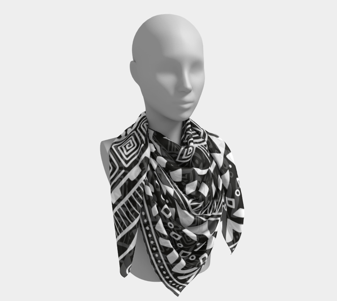 Aztec Print Square Scarf preview #4